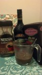 Nescafe coffee, Bailey's Irish Cream, cocoa powder in the melted butter mixture.