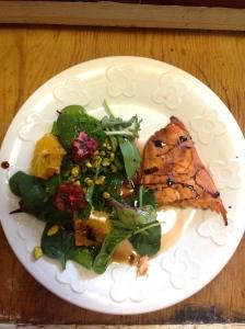 salmon + salad